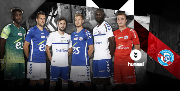 RCS les maillots de foot RC Strasbourg 2017 2018 Hummel