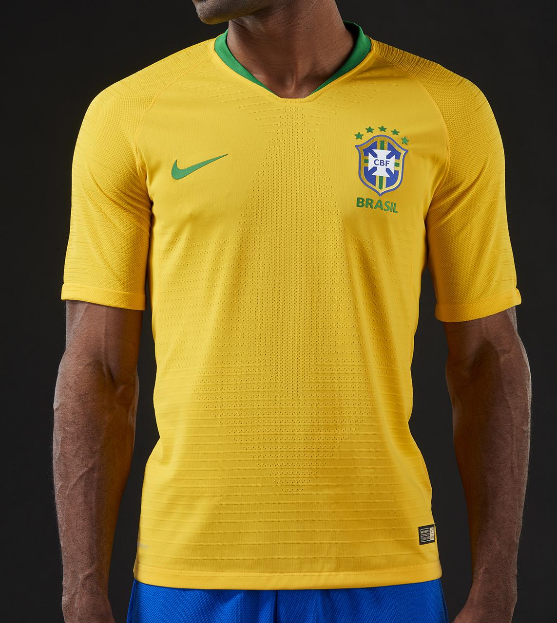 Bresil 2018 maillot domicile foot coupe du monde 2018