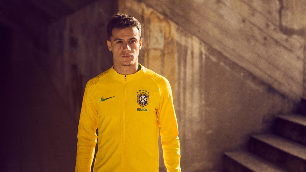 Bresil 2018 veste de foot jaune coupe du monde 2018