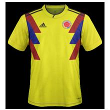 Colombie 2018 maillot domicile coupe du monde 2018