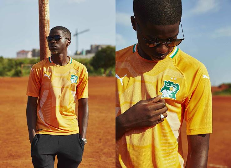 Cote Ivoire 2018 maillot domicile Puma