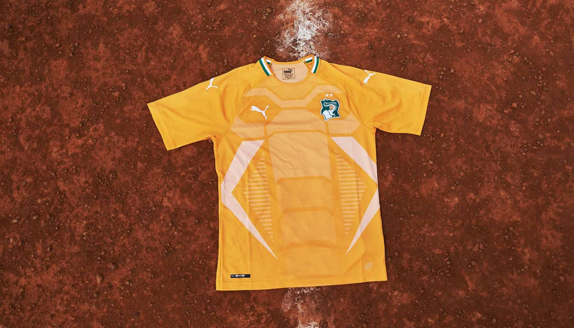 Cote Ivoire 2018 maillot foot domicile Puma