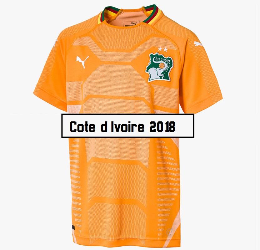 Cote d Ivoire maillot coupe du monde 2018
