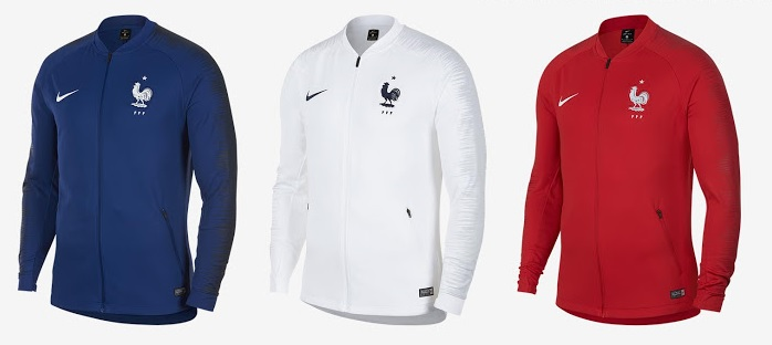 France 2018 anthem jacket vestes Nike FFF coupe du monde