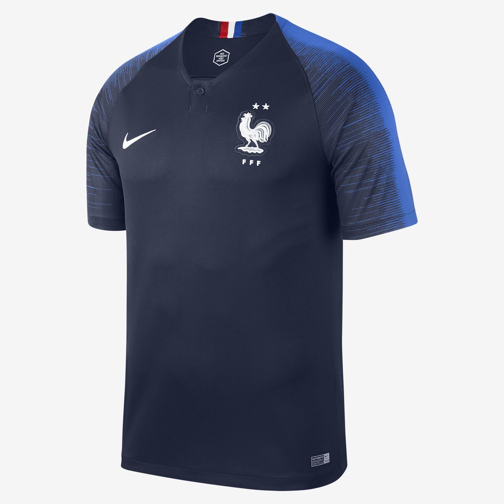 Les nouveaux maillots de la France coupe du monde 2018 2