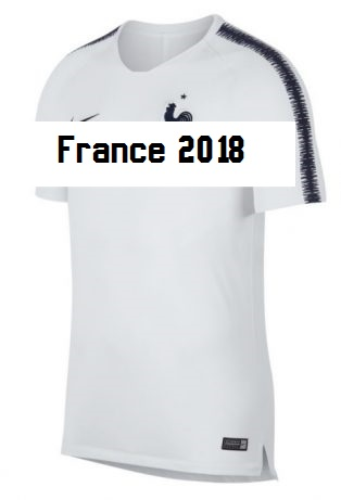 France 2018 maillot entrainement blanc
