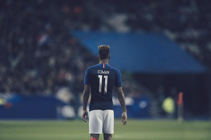 France 2018 maillot foot coupe du monde 2018 Coman