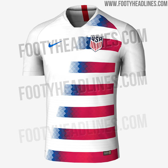 USA 2018 maillot domicile foot probable