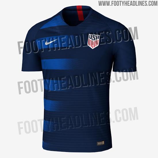 USA 2018 possible maillot exterieur foot Etats Unis