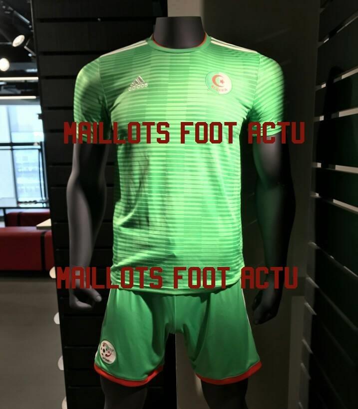 Algérie 2018 maillot de foot extérieur vert
