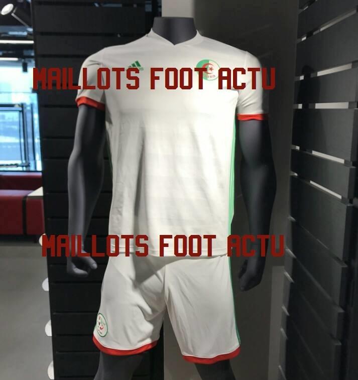 les nouveaux maillots de foot alg rie 2018 chez adidas maillots foot actu. Black Bedroom Furniture Sets. Home Design Ideas