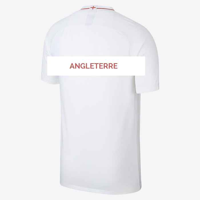 Angleterre 2018 maillot domicile dos