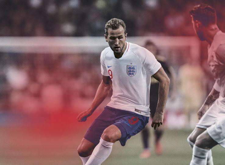Angleterre 2018 maillot domicile officiel coupe du monde 2018 Kane
