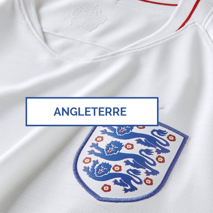 Angleterre 2018 maillot domicile zoom