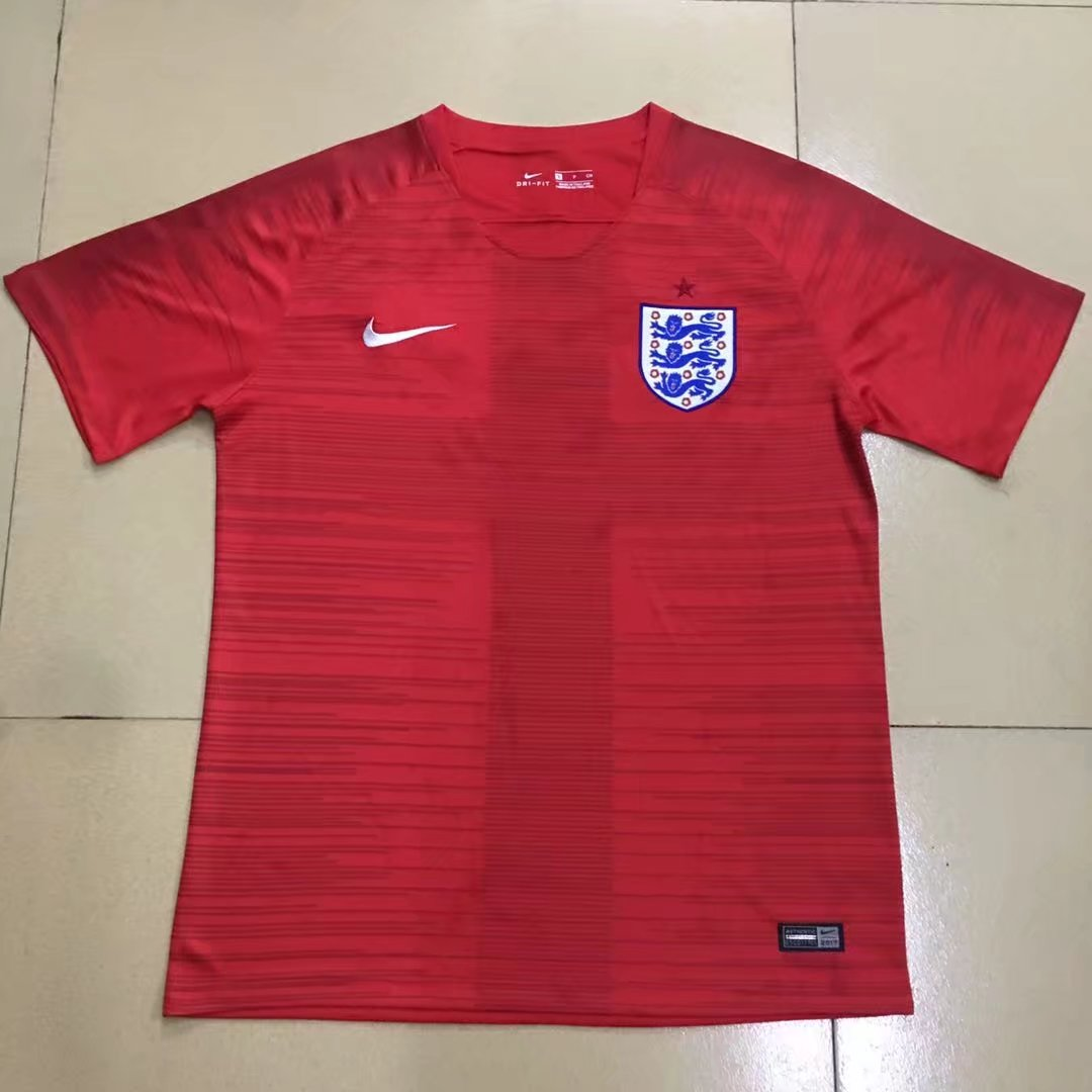 Angleterre 2018 maillot exterieur rouge Nike coupe du monde 2018
