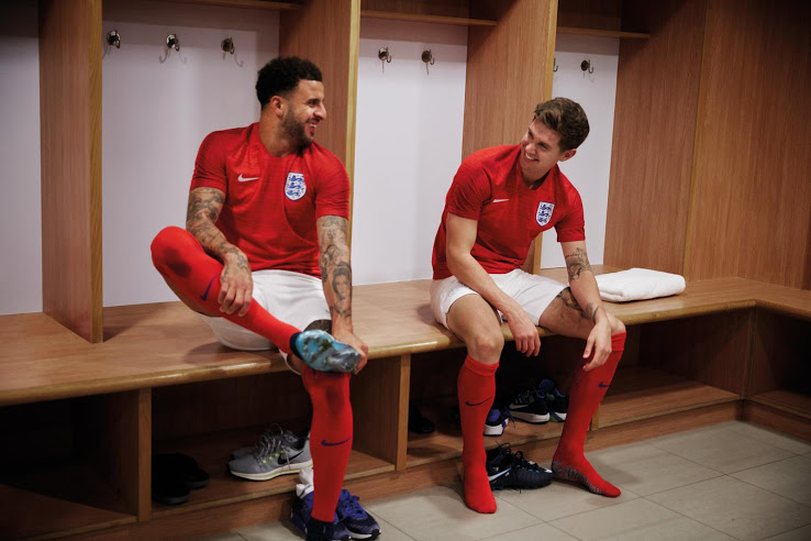 Angleterre 2018 maillot foot exterieur rouge coupe du monde Nike
