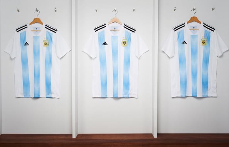Argentine 2018 maillot domicile Adidas officiel coupe du monde 2018