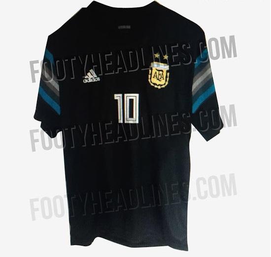 Argentine 2018 maillot exterieur noir Adidas