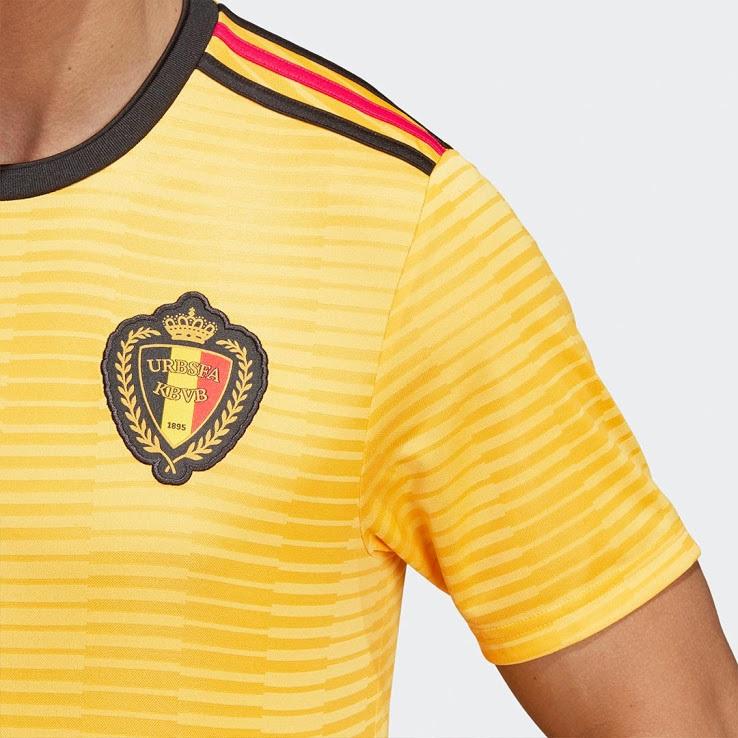 Belgique 2018 détails maillot exterieur coupe du monde 2018