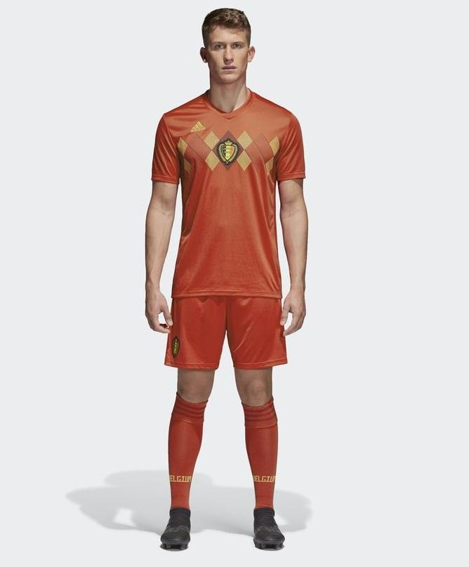 Belgique 2018 maillot Adidas rouge domicile coupe du monde 2018