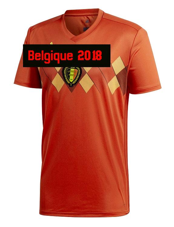 Belgique 2018 maillot de foot domicile coupe du monde 2018