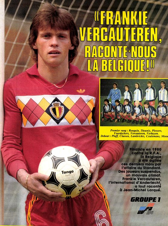 Belgique maillot 1984 inspiration 2018