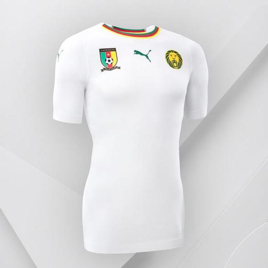 Cameroun 2018 maillot foot exterieur blanc