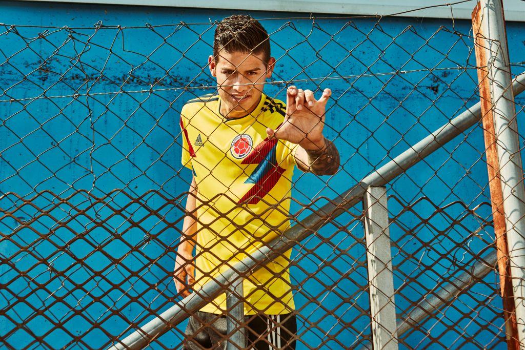 Colombie 2018 James maillot de foot coupe du monde 2018