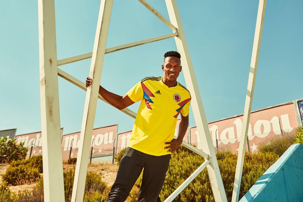 Colombie 2018 maillot Adidas coupe du monde 2018 domicile
