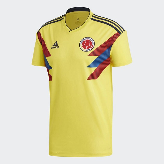 Colombie 2018 maillot domicile football