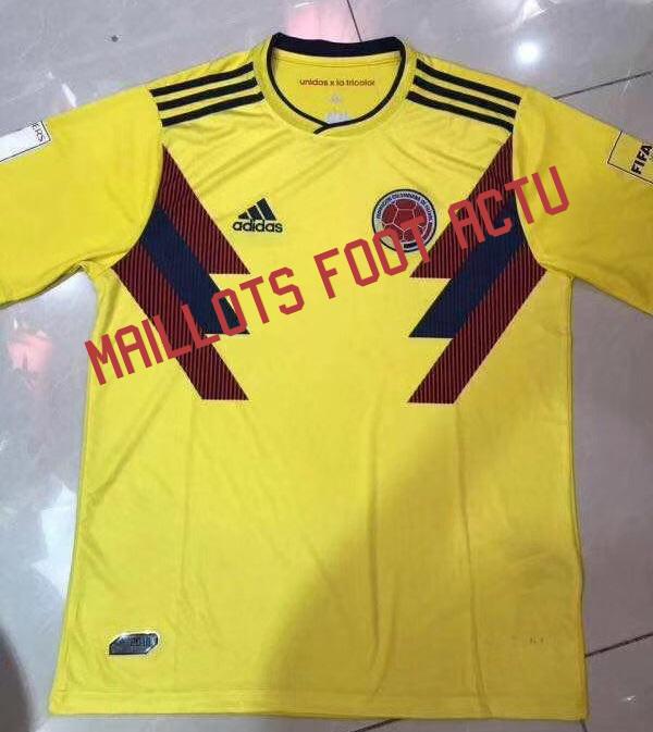 Colombie 2018 maillot domicile football CDM 2018