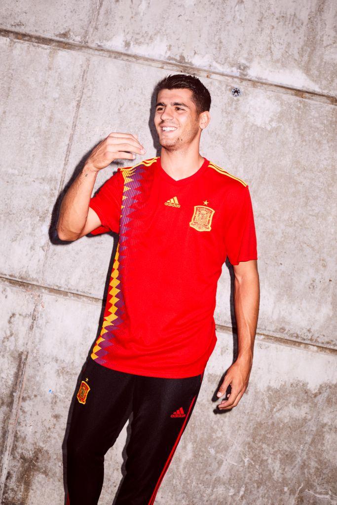 Espagne 2018 maillot domicile Adidas coupe du monde 2018