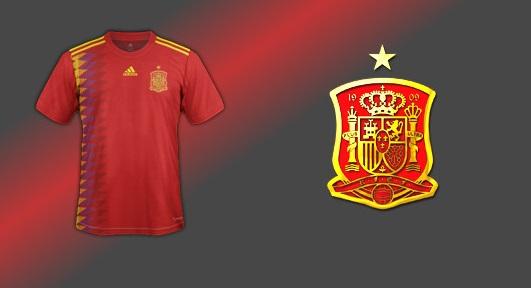 Espagne 2018 maillot domicile de foot pour la coupe dumonde 2018