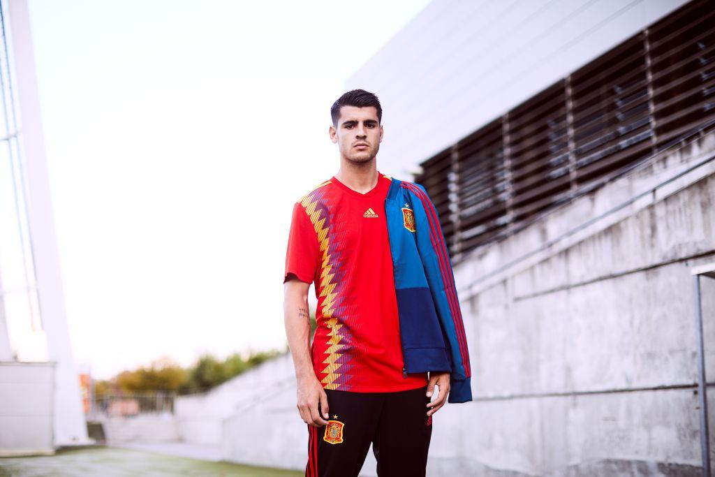 Espagne 2018 maillot domicile foot Adidas coupe du monde 2018