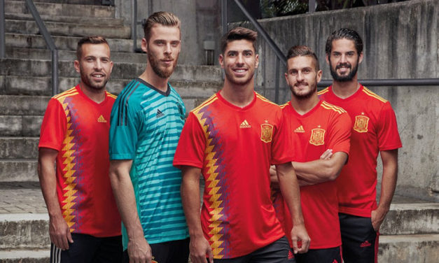 Espagne 2018 nouveaux maillots Coupe du Monde 2018 chez Adidas