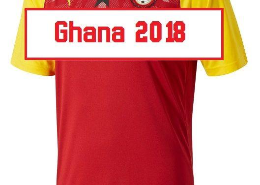 Un maillot domicile rouge pour le Ghana 2018