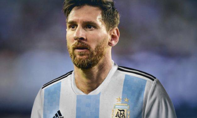 Messi et le maillot Argentine 2018 coupe du monde 2018