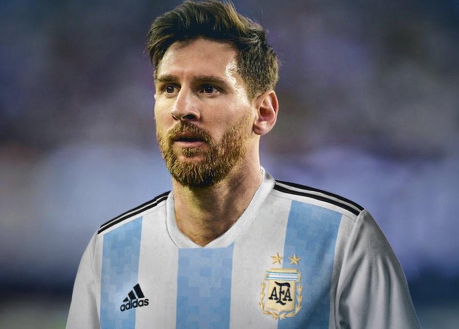 Messi maillot foot domicile Argentine 2018 coupe du monde 2018