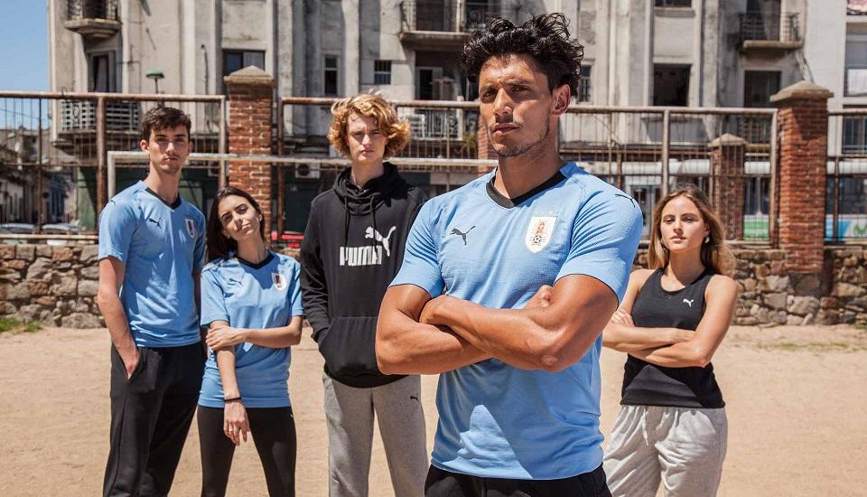 Uruguay 2018 Puma maillot de foot domicile bleu