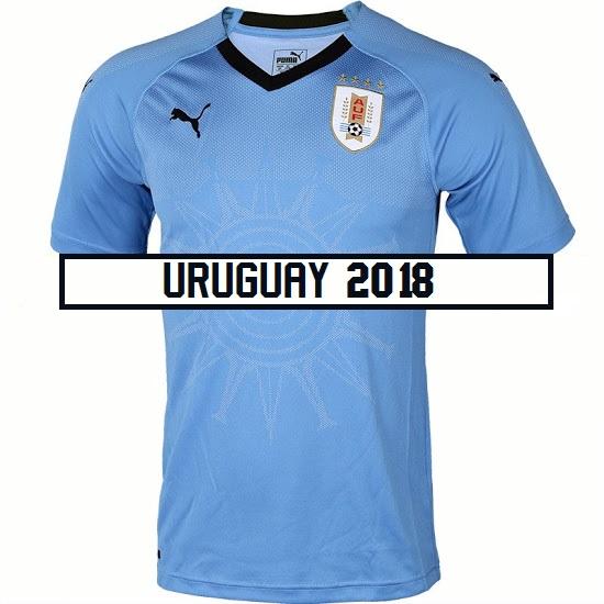 Uruguay 2018 maillot domicile Puma coupe du monde 2018