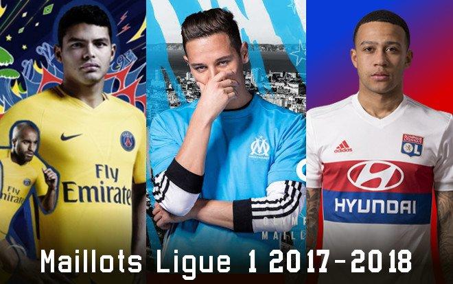 les maillots L1 2017-2018