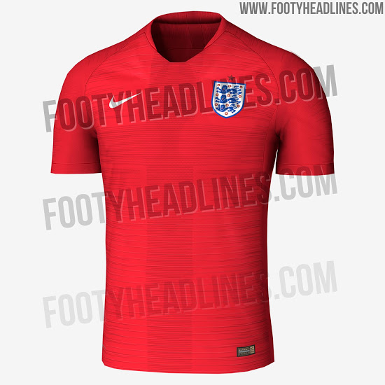 possible maillot exterieur rouge Angleterre 2018 coupe du monde