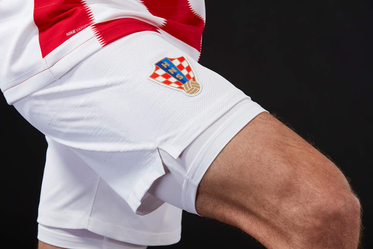 Croatie 2018 short de foot domicile blanc