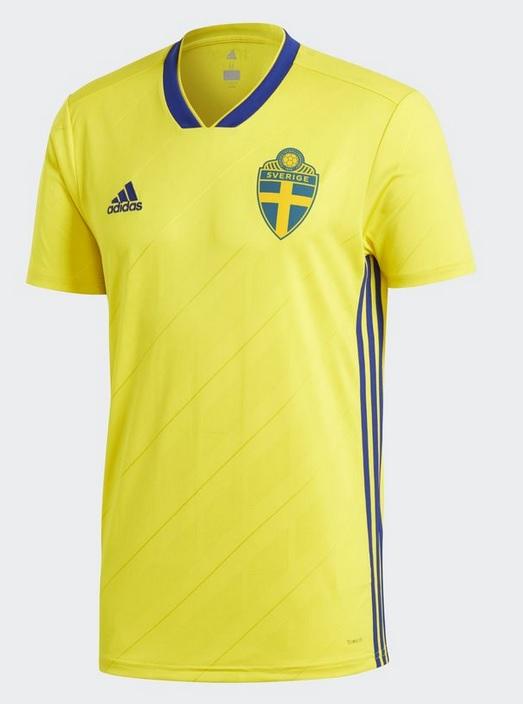 Suède 2018 maillot de foot domicile Adidas