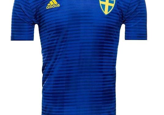 Les nouveaux maillots de foot Suède 2018 avec Adidas