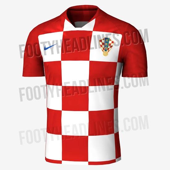 maillot domicile probable croatie 2018 coupe du monde