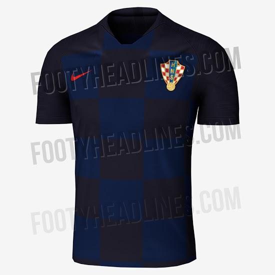 maillot exterieur probable croatie 2018 coupe du monde