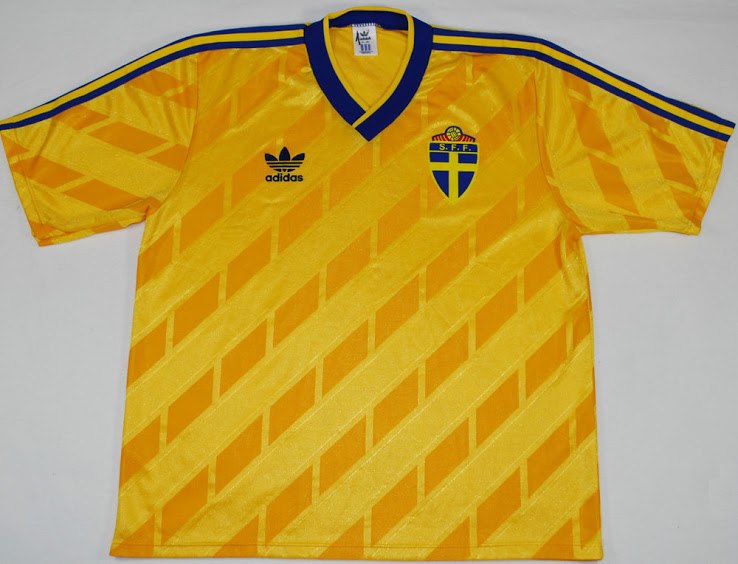 maillot foot Suède 1988