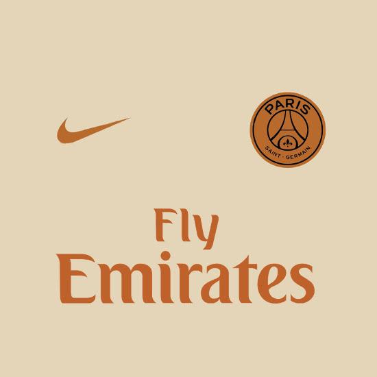 PSG 2019 maillot exterieur foot couleur creme 18 19 Nike