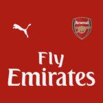 couleur Arsenal 2019 maillot domicile